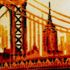 Manhattan Bridge - Orange by Louis Sidoli