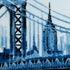 Manhattan Bridge - Blue by Louis Sidoli