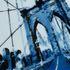 View Of Brooklyn Bridge - Blue by Louis Sidoli