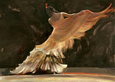 El Chal Amorillo (The Yellow Shawl) (canvas)