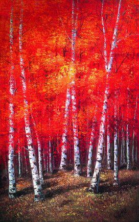 Autumn Shades - White Frame