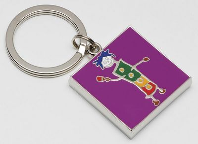 Painting the Town Red - Keyring