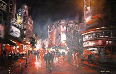 Leicester Square In The Evening II by Csilla Orban