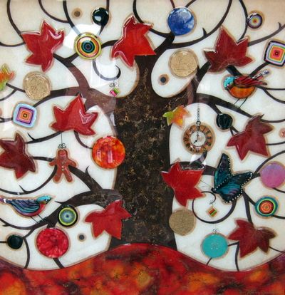 Tree Of Tranquility XL (Red Base & Maple Leaves)