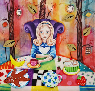 Study of Alice at the Mad Hatters Tea-Party