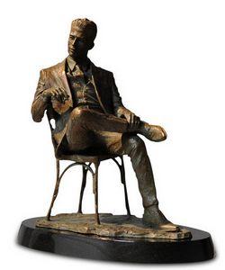 Man Sitting in Chair - Bronze