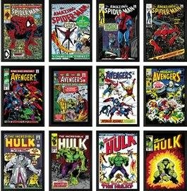 Super Heroes - Set Of 12 Editions - Canvas