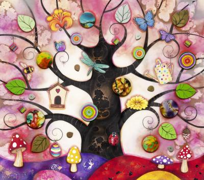 Pink Tree of Charms