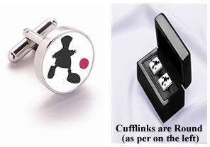 Game Of Life - Pair Round Silver Cufflinks (Boxed)