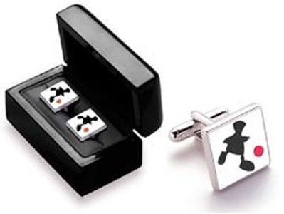 Game Of Life - Pair Square Silver Cufflinks (Boxed)