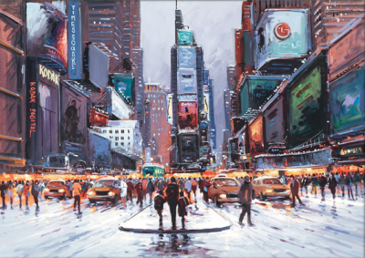 Time Square at Twilight