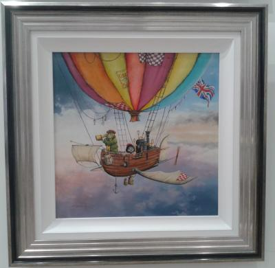 Mr Toad and Moley's Fantastic Flying Machine - High Gloss Resin with 3D Elements
