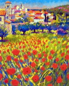 Poppies At Lourmarin Provence