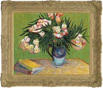 Oleanders In The Style of Vincent Van Gogh