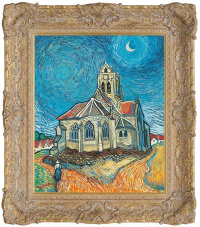The Church At Auvers in the Style of Vincent Van Gogh