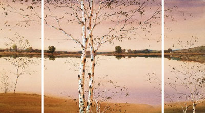 Lakeside Panorama (Triptych)