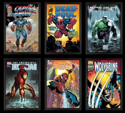 Marvel Superheroes - Box Canvas set of 6