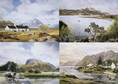 Scottish Portfolio (Set of 4) by Alan Ingham
