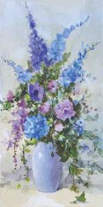 Summer Blooms (Blue)
