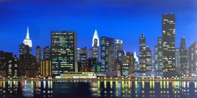 New York Skyline - Aluminum Board