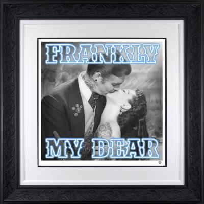 Frankly my dear.. Glass Embellishment Special Edition Blue