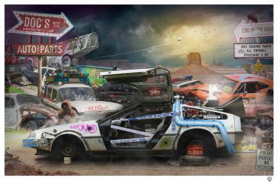 Doc's Auto Parts- Black Frame
