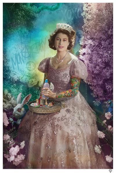 A Liz in Wonderland- Black Frame