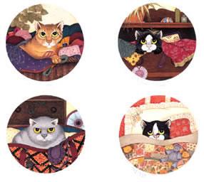 Lazy Cats (Set of 4)