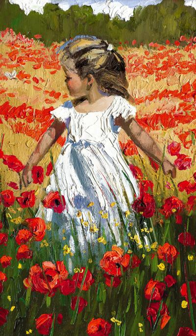 The Butterfly Amongst the Poppies