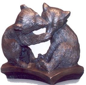 Brown Bear Cubs - Bronze Resin