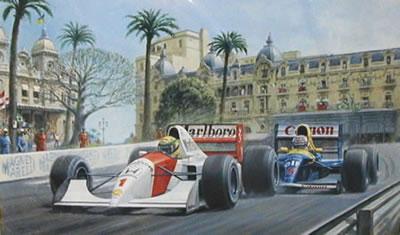 Dicing At Casino - Senna & Mansell