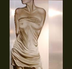 Silver Lady (Silkscreen On Aluminium)