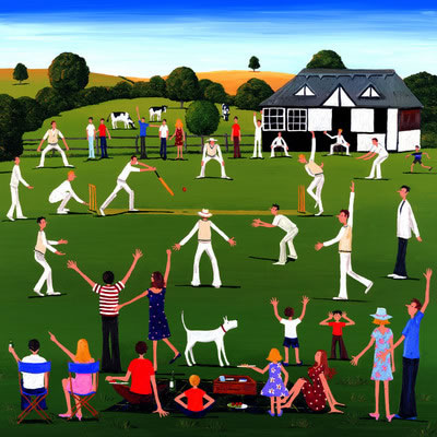 Out To Play - Cricket by Louise Braithwaite