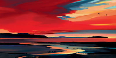 Incandescent Skies II by Pam Carter