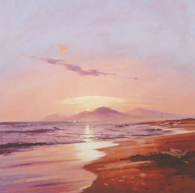 The Rising Sun Glids The Eastern Sands by Peter Wileman