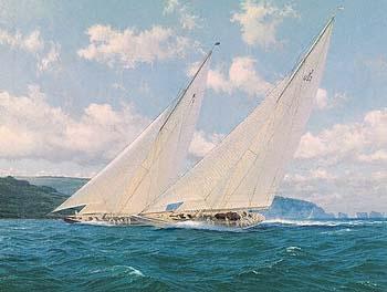 Britannia & Yankee, Round The Island Race, 1935