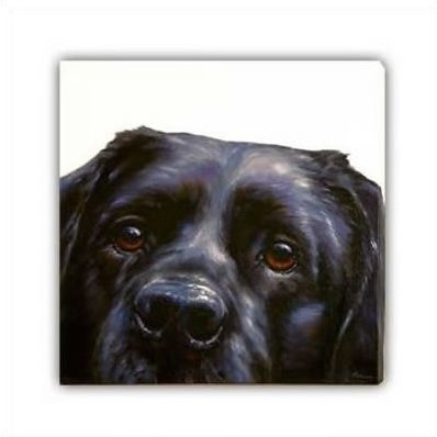 Lab (Canvas) - Black Labrador
