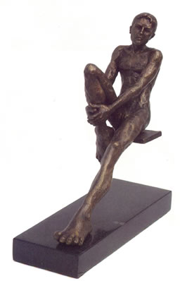 Waiting - Sculpture by Lucien Vin
